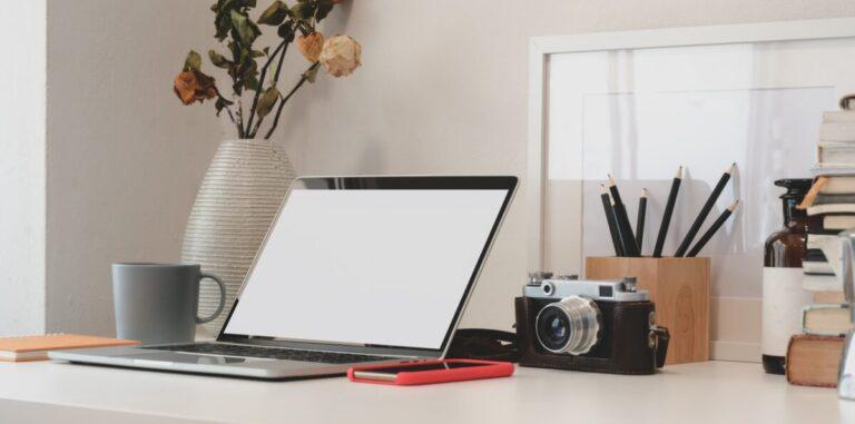 laptop met fotocamera