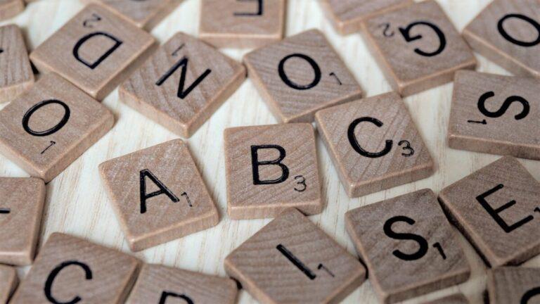 Scrabble letters ABCS